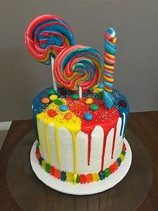 Lolly cake for my 7 year old niece. Happy birthday Allegra ...