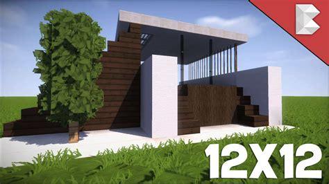best small house minecraft 12x12 modern house tutorial how to build best small modern house minecraft house