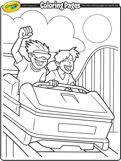 roller coaster ride coloring page crayolacom