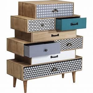 Commode 8 Tiroirs : commode en bois aux huit tiroirs d pareill s capri kare design ~ Teatrodelosmanantiales.com Idées de Décoration