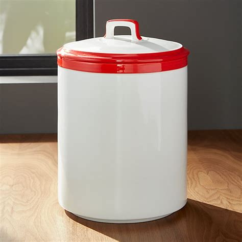 white kitchen canister baker and white kitchen canister large crate and barrel