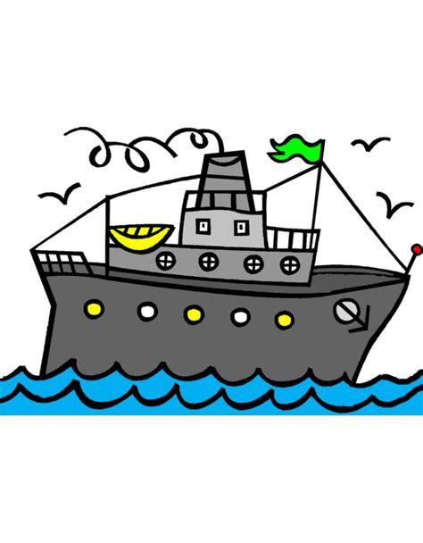 disegno  nave  scialuppe  colori  bambini