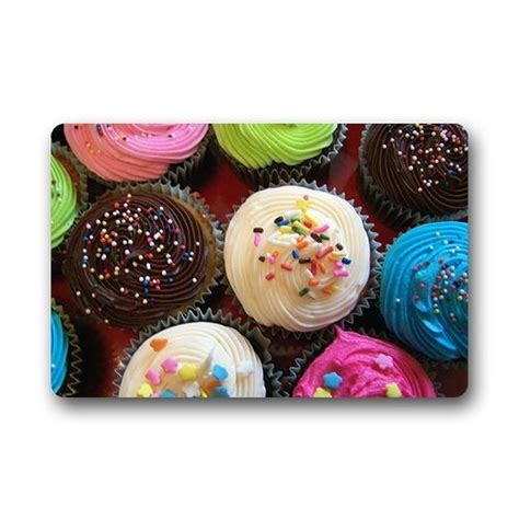 cupcake doormat design cupcake custom washable doormat gate pad cover 23 6