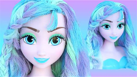 frozen elsa pastel hair color makeover   princess