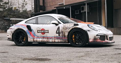 porsche gt3 rs wrap this guy wrapped his 175k porsche gt3 rs to look like a
