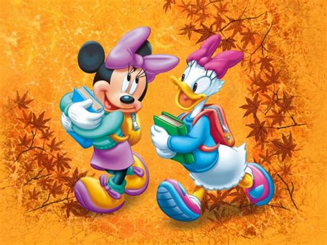 mickey mouse autumn wallpaper minnie mouse  daisy