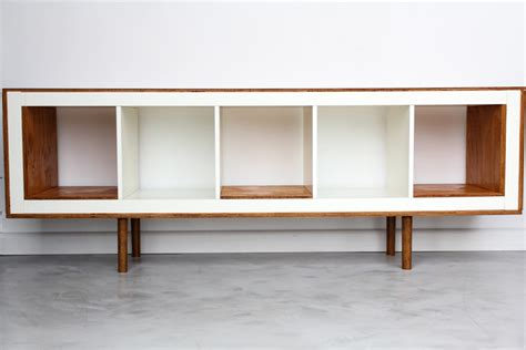 ex ikea upright bookcases now mid century modern sideboards ikea hackers ikea hackers