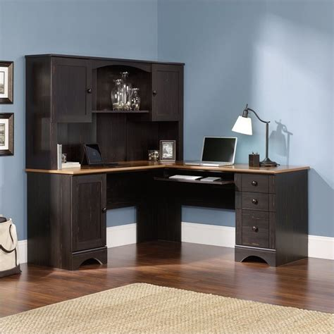 sauder harbor view computer desk with hutch sauder harbor view corner antiqued paint computer desk ebay