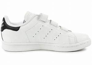 buy online 61bfe 77f98 soldes adidas stan smith cf enfant blanche et noire chaussures adidas  chausport