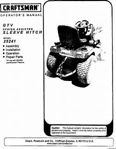 Craftsman Tractor Attachments Manual L0304244
