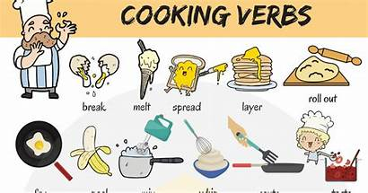 Verbs Cooking Words English Useful