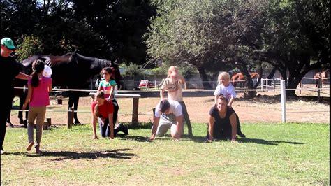 human horse race