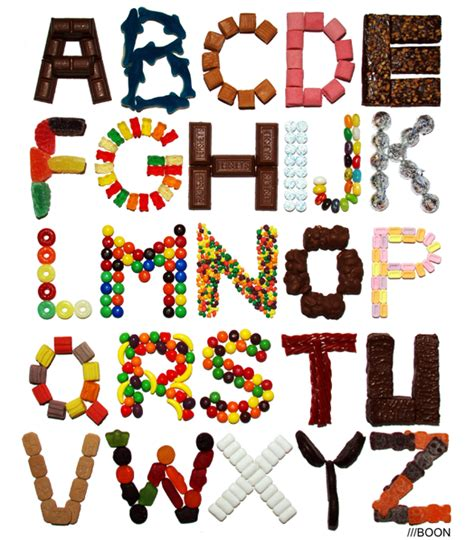 candy alphabet foodiggity