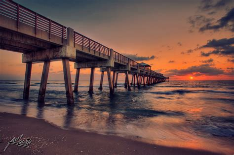 juno beach pier sunrise hdr series hdr photography