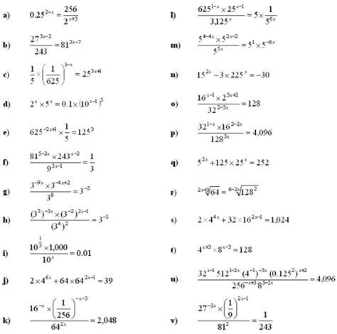 exponential equations worksheet homeschooldressage