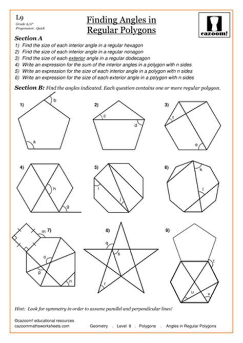 polygons angles worksheets homeshealth info