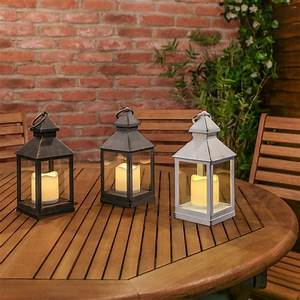 Outdoor, Battery, Flickering, Candle, Lantern, 24cm