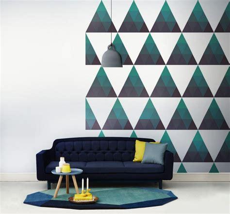 le cuisine moderne peinture décorative dessin géométrique sublimez les murs