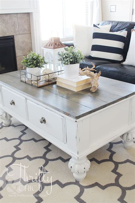 Farmhouse Style Coffee Table Makeover How To Update An