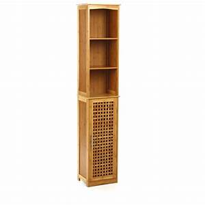 Meuble Salle De Bain Colonne : colonne de salle de bain en bambou meuble de rangement ac deco ~ Teatrodelosmanantiales.com Idées de Décoration