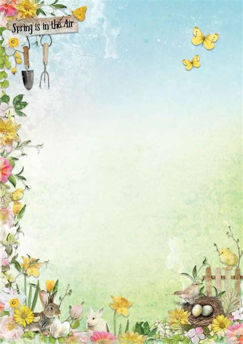 Celebrate Spring Background Paper Double Printed A4