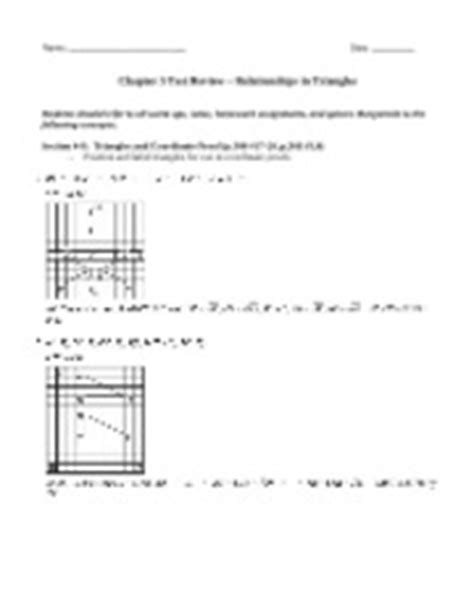 triangle bisectors homework key answers chapter 5 properties and attributes of triangles