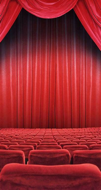 Theatre Curtain Iphone Seats Theater Backgrounds Wallpapers