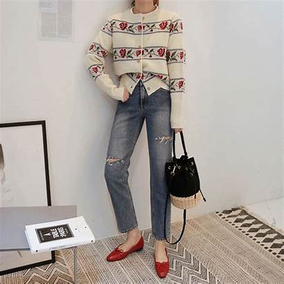 Ripped Jeans Cropped Miamasvin Womens Korean