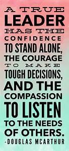 A true leader h... Confident Decision Quotes