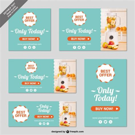 banners redes sociales template online shop banner templates vector free download