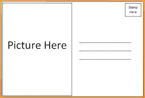 Template Two Sided Postcard Template Two Sided Postcard Template Business Strategy Education
