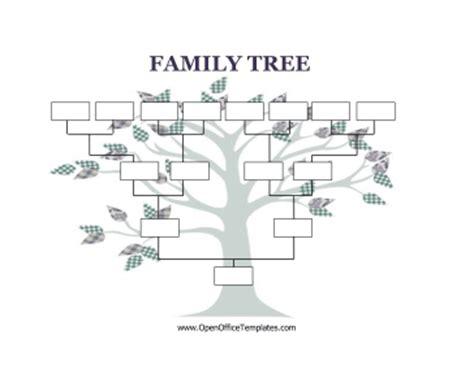 blank family tree template blank family tree