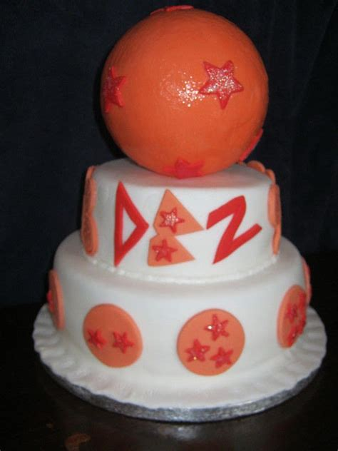 dragon ball  tiered birthday cake  cartoon cake