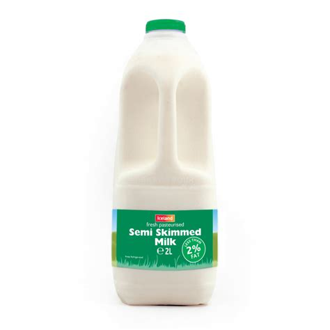 toilet with iceland fresh pasteurised semi skimmed 2l semi