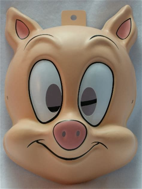 Tiny Toons Hampton J Pig Warner Bros Halloween Mask Porky