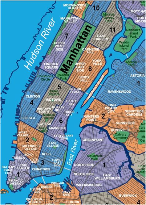 Neighborhood Lower Manhattan Map