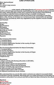 Sample Of A Job Application Letter Of Intent Sample 5 Templates Formats In Word Pdf