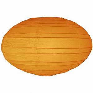 16 Inch Orange Oval paper lantern