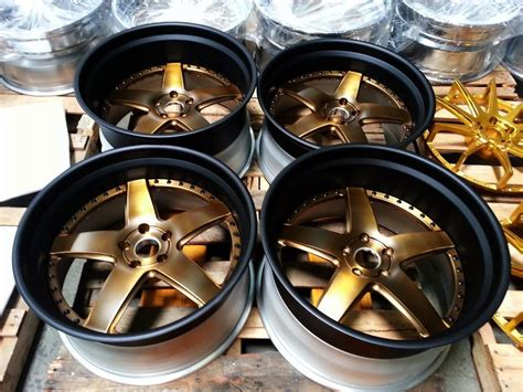 Cars With Bronze Rims : White, Black And Matte Bronze Cars