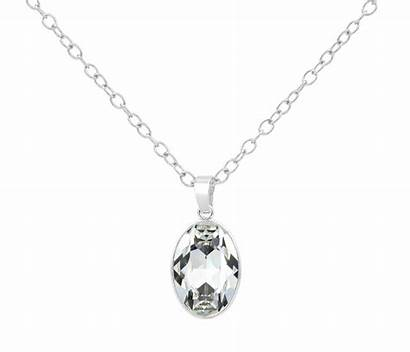 Swarovski Crystal Necklace Pendant Sterling Silver Jewelry