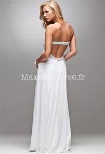 Robe De Mariée Dos Nu Plongeant : robe soir e mariage blanche bustier dos nu robes elina ~ Melissatoandfro.com Idées de Décoration