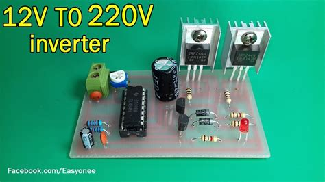 Tl494 Inverter 12v 220v by How To Make Inverter 12v To 220v Using Tl494 Mosfet Z44