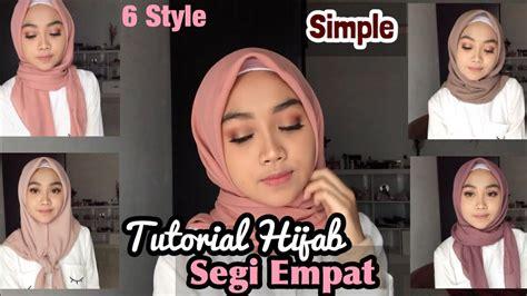 hijab segi empat simple sehari hari  style youtube
