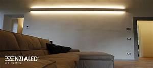 Righello Lampada parete in gesso a led prodotta MadeinItalyEssenzialed Illuminazione a led