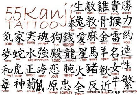 Desenhos Para Tatuagem De Kanji  Foto De Tatuagem