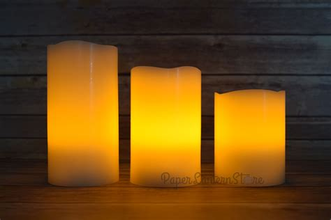 realistic wax flameless led candle light  remote timer