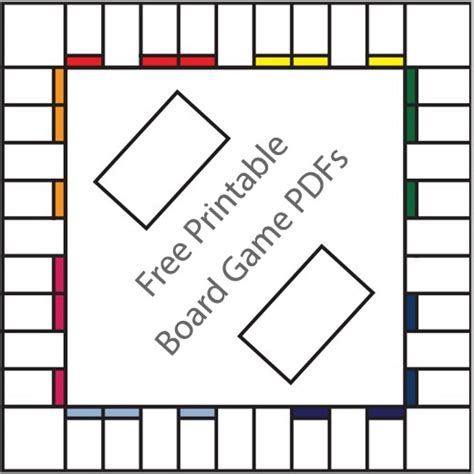 printable board game templates hubpages