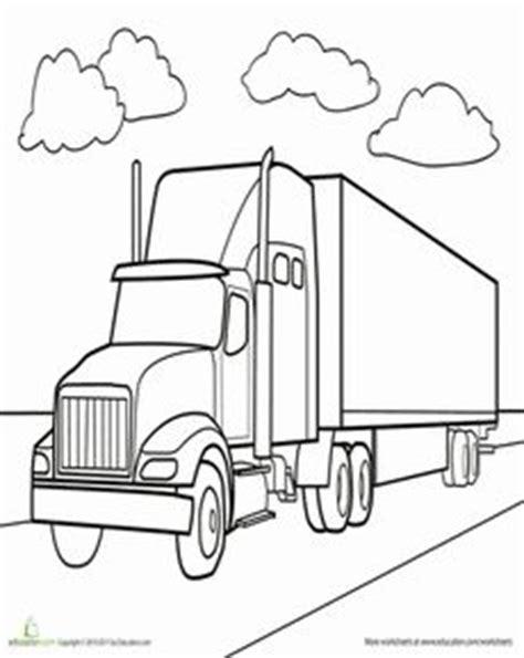 semi truck worksheet educationcom truck coloring pages truck coloring page truck drawing
