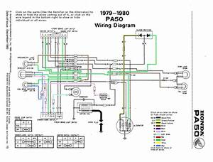 Awesome Interactive Diagram Of The Honda Hobbit    Pa50 Wiring System  Click Through   Moped