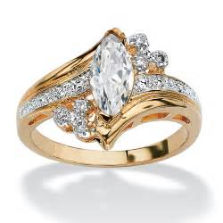 gold cubic zirconia engagement rings palmbeach jewelry 1 03 tcw cubic zirconia 14k gold plated marquise ring ebay